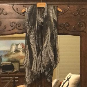 Final $ Drop Feather Print Scarf from Ann Taylor